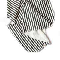 Organic Swaddle Blanket Black Stripes