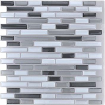 ONETOW Peel and Stick Tiles Kitchen Backsplash Tiles 12''x12'' 3D Wall Stickers 6 Tiles/Pack