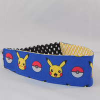 Fabric Headband Made With Pokemon Inspired Fabric