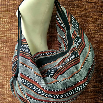 Backpack Shoulder Bags Boho Tribal Aztec Ethnic Hippie Hipster Styles Southwestern fabric weekend overnight bag 2in1 Festival Luggage LARGE