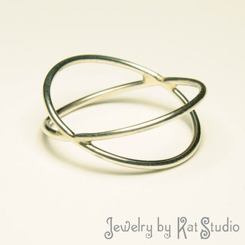 Infinity Double Ring - Handmade  - Sterling Silver 925 - gift box