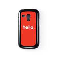Hello Black Hard Plastic Case for Samsung Galaxy S3 Mini by textGuy