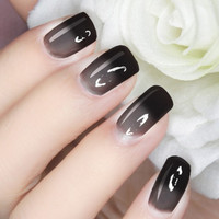 Thermal Nail Polish Color Changing Polish - Black to Gray # 23799