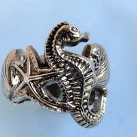Silver Napkin Rings Godinger Silver Art Co./Seashore/Seahorse theme