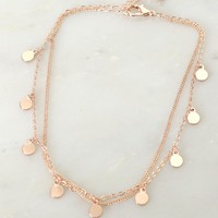 Plated Charm Anklet Gold