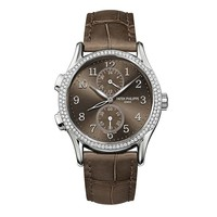 Patek Philippe Ladies Complications Dual Time White Gold Watch 7134G-001