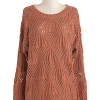 ModCloth Vintage Inspired Mid-length Long Sleeve Those Fall Nights Sweater