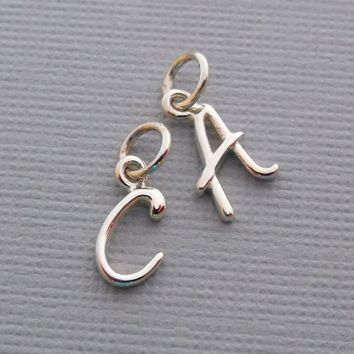 Initial Charms, Letter Charm, Sterling Silver Letter Charm, Gold Initial Charms, Personalized Initials, Add A Charm