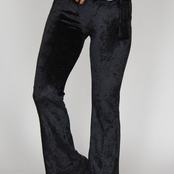 Janis Velvet Flare Bell Bottom Pants