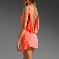 UNIF Christy Drape Open Back Dress in Neon Pink from REVOLVEclothing.com