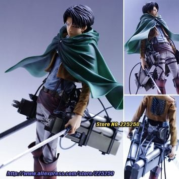 "Cool Attack on Titan Japanese Anime """" Original BANPRESTO Master Stars Piece / MSP Figures - Levi + 3D Maneuver Gear AT_90_11"