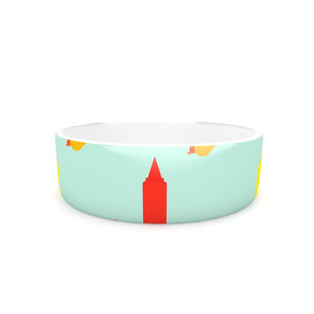 "Will Wild ""Hot Dog Pattern"" Food Pet Bowl"