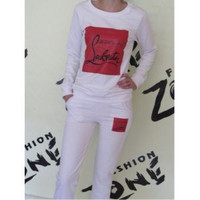 Christian louboutin track suit 2pc