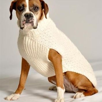 Cable Knit  Sweater - Chilly Dog at Baysidebuddy.com
