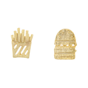 Burger and Fries Studs