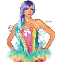 Corset Rainbow Sequin Adult Md