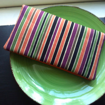SALE Striped, Quilted Checkbook Cover, Coupon holder and receipt book
