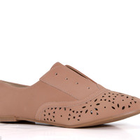 Qupid Shoes Salya Oxfords for Women in Nude SALYA-707-NUDE