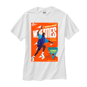 Michael Jordan Grape 5 Wheaties white tee