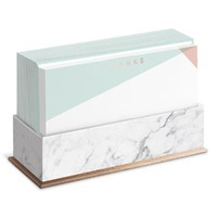 Copper Marble Flat Notes in Geometric Pastels with Envelopes