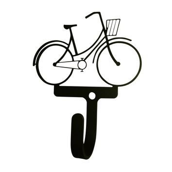 Wrought Iron Bicycle Decorative Wall Hook Small