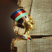 Egyptian Head Brooch #5386