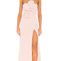 Lovers + Friends Sol Gown in Rose   REVOLVE
