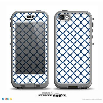 The Navy & White Seamless Morocan Pattern V2 Skin for the iPhone 5c nüüd LifeProof Case