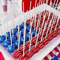 4th of July Cake Pop Platter of 50