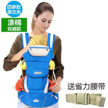Toddler Backpack class 0~48 Months Infant Baby Carrier mochila Baby manduca Baby Sling Hipseat Toddler Wrap High Quality Baby Backpack porte bebe AT_50_3