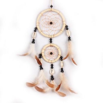 40cm Car beige Dream Catcher With feather Wall Hanging Decoration Ornament Best GIft for Friends and Family
