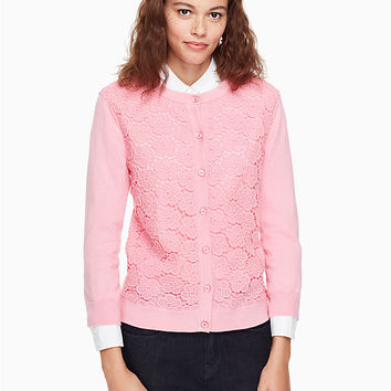 bloom floral lace cardigan | Kate Spade New York