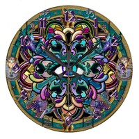 The Eye of the World Mandala Symbolic Wall Clock
