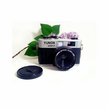 Vintage Yunon Super 2  Rare Lomo Camera 35mm Toy Has original lens cap Yunon Optical Glass Lens 1:6f  50mm series 746277 hipster photography