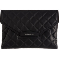 Givenchy Quilted Antigona Envelope Clutch at Barneys.com