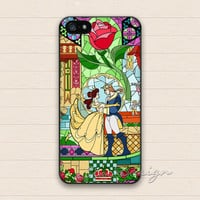 Beauty and the Beast iPhone 5 5s Case,iPhone 4 4s Case,iPhone 5C Case,Samsung Galaxy S3 S4 S5 Case,Flower Floral Rose Hard Rubber Cover Case