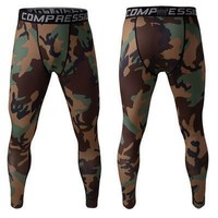 Permeable Camouflage Stretch Pants Gym Skinny Pants [6572775431]
