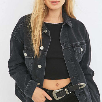 BDG Black Denim Jacket - Urban Outfitters
