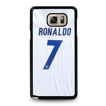 RONALDO CR7 JERSEY REAL MADRID Samsung Galaxy Note 5 Case Cover