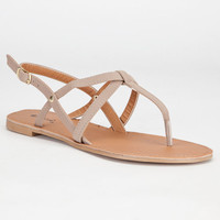 Qupid Athena Womens Sandals Taupe  In Sizes