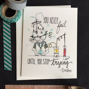 Little Einstein Encouragement Card