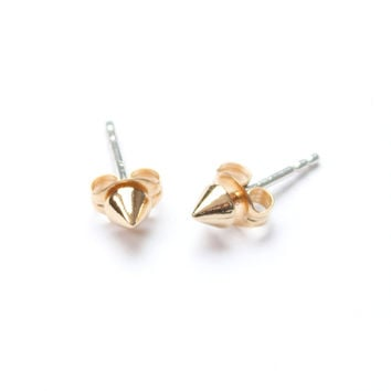 Tiny Vivienne Studs Yellow Gold Vermeil