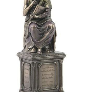Plato Ancient Greek Philosopher Portrait Statue Bronze Finish 14.5H