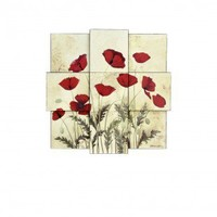 Style Craft Poppies Wall Decor - WI5-1008-DS - Decor