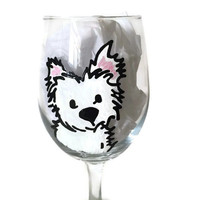 Dog Wine Glass, Custom Dog Wine Glass, Hand Painted Dog Lover Gift, Hand Painted Wine Glass, Hand Painted Dog Art, Hand Painted Dog Glasses