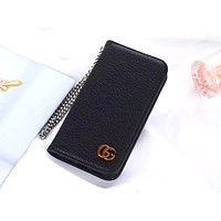 GUCCI lychee leather case iPhone 7 plus mobile phone case cover #1