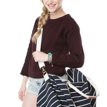Brandy ♥ Melville |  John Galt Navy Blue Duffel Bag - Accessories