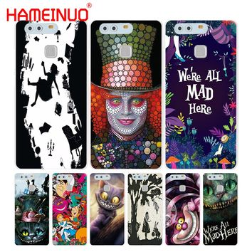 HAMEINUO Alice in Wonderland Cover phone Case for huawei Ascend P7 P8 P9 P10 lite plus G8 G7 honor 5C 2017 mate 8
