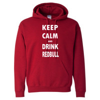 Keep Calm And Drink Redbull - Heavy Blend™ Hooded Sweatshirt