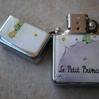 THE LITTLE PRINCE star hand finished design oil flip windproof lighter Le Petit cartoon